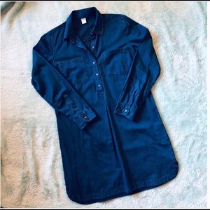 Old Navy dark denim tunic top dress Medium